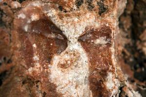Steinsalz auf Steinen foto
