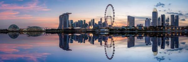 Skyline der Stadt Singapur foto