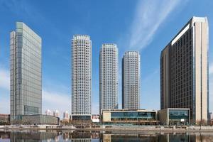 die schöne Landschaft der Stadt Tianjin foto