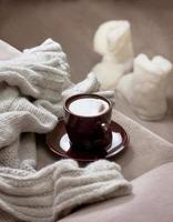 Winter Tasse Kaffee foto