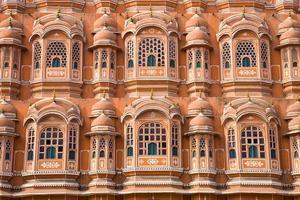 Detail des Palastes der Winde, Jaipur foto
