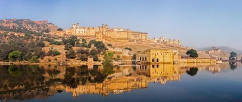 Panorama von Amer (Bernstein) Fort, Rajasthan, Indien foto