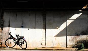 antikes Fahrrad foto