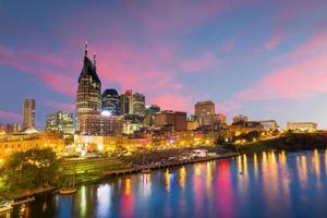Nashville, Tennessee Innenstadt Skyline foto