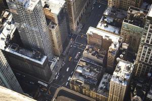 Luftaufnahme von Manhattan, New York City foto