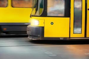 Straßenbahn im Profil foto