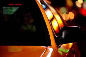 New York City Taxi mit Bokeh foto