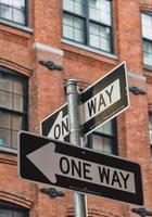 Einbahnstraßen in New York
