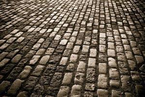 Kopfsteinpflaster Straße foto
