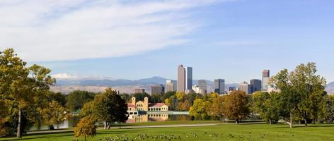 Denver, Colorado Skyline Herbst 2010 foto