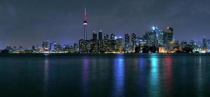 Toronto Stadt in der Nacht foto