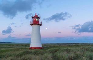 Leuchtturm Liste West nach Sonnenuntergang