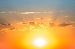 Hintergrund Sonnenuntergang foto