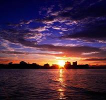 Schwärze Sonnenuntergang foto