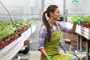 junge Botanikerin foto