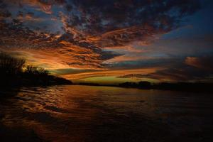 Sonnenuntergang in Belgrad foto