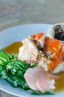 gebratene Ente über Reis