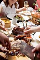 Feier im chinesischen Restaurant foto