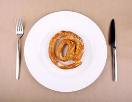 Lebensmittelkonzept - Essen aus dem Internet foto