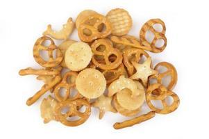 Salziger Cracker und Brezel