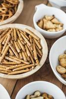 Snacks in Schalen foto