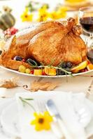 Thanksgiving Truthahn Abendessen foto