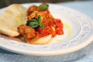 leckere hausgemachte Lasagne foto