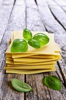 Blätter für Lasagne foto