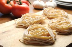 Pici toskanische typische toskanische Pasta foto