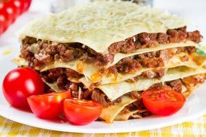 italienische Gericht Lasagne foto