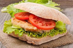 großes Sandwich foto