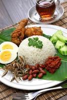 Nasi Lemak, malaysische Küche foto