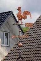 goldener Wetterhahn auf dem Dach foto