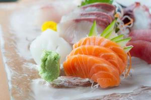 Sashimi Gericht foto