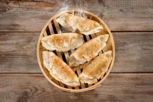 Chinesische Küche Pfanne gebratene Knödel foto