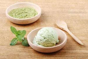 Grüner Tee Eis foto