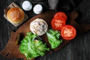 Hühnersandwich kochen foto