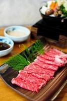 Rindfleisch für Shabushabu foto
