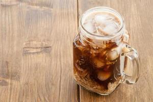Eiskaffee im Vintage-Glas foto