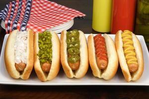 Hot Dogs für eine Party foto