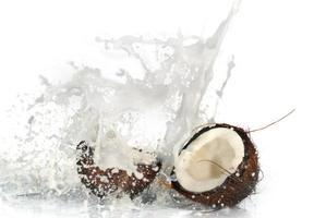 rissige Kokosnuss foto