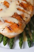 gebratenes Fleisch mit Sauce Hollandaise und Spargel Makro