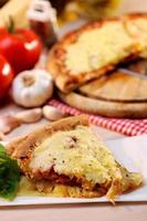 Pizza Margharita Scheiben foto