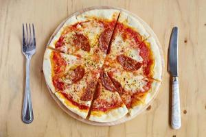 Pizza Mittagessen