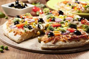 Pizza vegetarisch foto