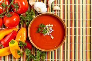 frische Tomatensuppe foto