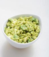 Guacamole Vorspeise gesunder Snack foto
