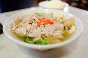 warmes Essen in Singapur foto