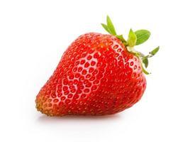 Erdbeere auf einer Serviette foto
