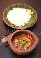 Fischcurry und Reis